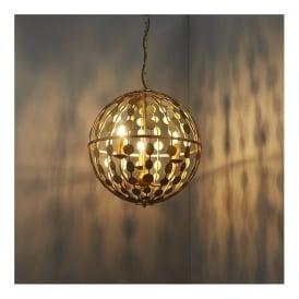 Endon 72797 Alvah 3 Light Pendant Gold Leaf