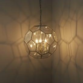 Endon 73560 Miele 3 Light Ceiling Pendant Antique Brass