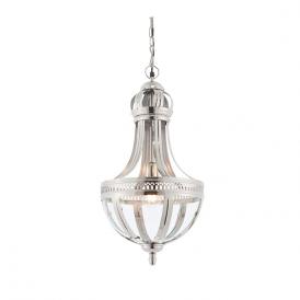 Endon 73100 Vienna 1 Light Ceiling Pendant Nickel