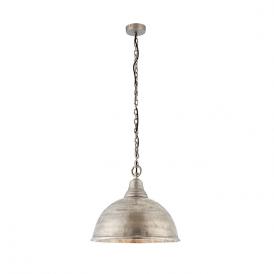 Endon 73133 Nesta 1 Light Ceiling Pendant Antique Silver
