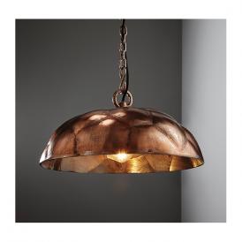Endon 73078 Elmore 1 Light Ceiling Pendant Antique Copper