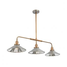 Endon 73128 Tabyas 3 Light Ceiling Pendant Zinc and Brass