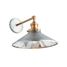 Endon 73129 Tabyas 1 Light Wall Light Zinc and Brass