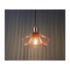 Endon 72813 Kimberley 1 Light Ceiling Pendant Copper