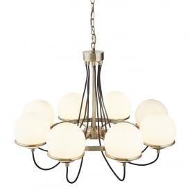 Searchlight 7098-8AB Sphere 8 Light Ceiling Light Antique Brass