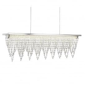 Searchlight 8857CC Drape LED Crystal Ceiling Pendant Polished Chrome