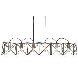 Searchlight 8416-6BK Anthea 6 Light Ceiling Pendant Copper