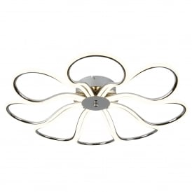 Searchlight 9278-8CC Foliage 8 Light LED Ceiling Light Polish Chrome