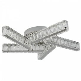 Searchlight 8125-5CC Clover Crystal LED Ceiling Light Polished Chrome