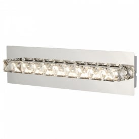 Searchlight 6001CC Clover Crystal LED Switched Wall Light Polished Chrome