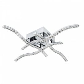 Searchlight 4204-4CC Anson LED Crystal Ceiling Light Polished Chrome
