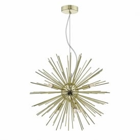 Dar SAG0635 Sagan 6 Light Pendant Gold