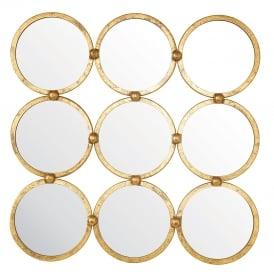 Endon 69548 Bradbury Mirror Antique Gold