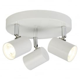Searchlight 3173WH Rollo 3 Light Ceiling Spotlight White