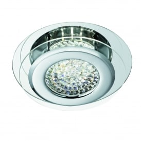 Searchlight 1692CC Vesta LED Flush Ceiling Light Polished Chrome