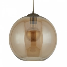 Searchlight 1621AM Balls 1 Light Ceiling Pendant Antique Brass