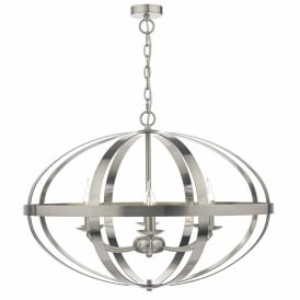 SYM0646 Symbol 6 Light Ceiling Light Satin Chrome