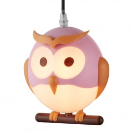 Searchlight 0113PI Novelty 1 Light Ceiling Pendant Pink