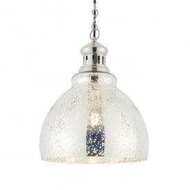 Endon 73569 Darna 1 Light Ceiling Pendant Nickel