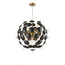 Franklite FL2386-6 Dandy 6 Light Ceiling Pendant Matt Gold