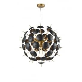 Franklite FL2386-6 Dandy 6 Light Ceiling Pendant Matt Gold