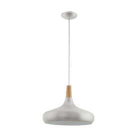 Eglo 96986 Sabinar 1 Light Ceiling Light Brushed Silver