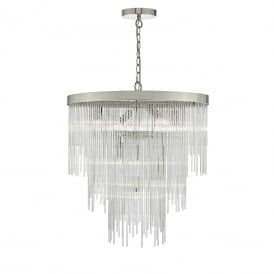 Dar ISL3450 Isla 7 Light Pendant Polished Chrome