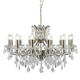 Searchlight 87312-12AB Paris 12 Light Chandelier Antique Brass