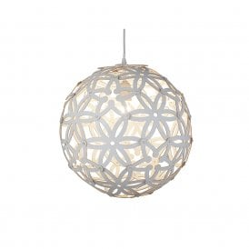 Searchlight 3161-50WH Avalon 1 Light Ceiling Pendant Matt White