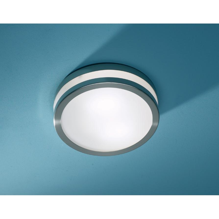Dar cyr504628le cyro 1 light modern bathroom flush ceiling light dar cyr504628le cyro 1 light modern bathroom flush ceiling light ip44 rated stainless steel mozeypictures Gallery
