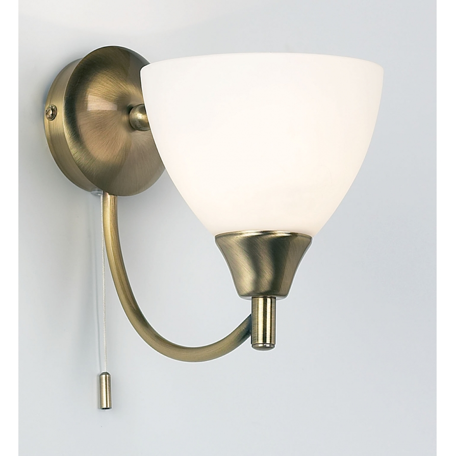 Self Switched Wall Lights : Endon 1805-1AN Alton 1 Light Switched Wall Light