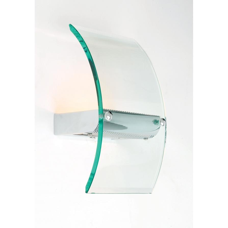 Endon 122-WB 1 Light Modern Wall Light Glass