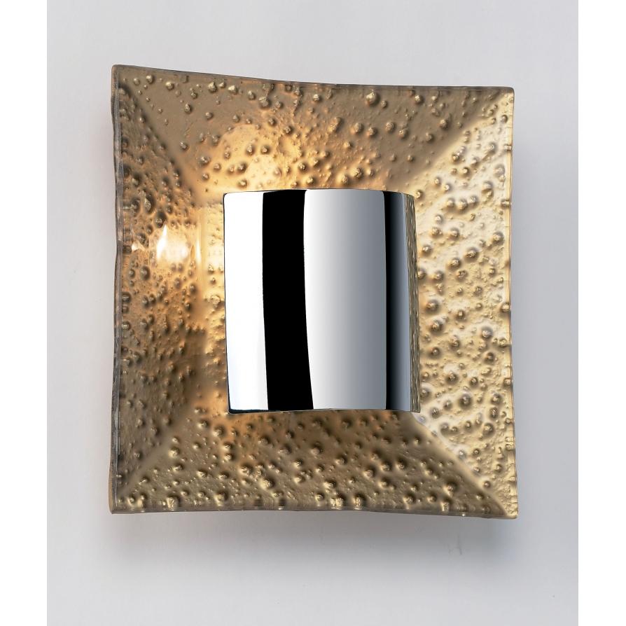 Modern Gold Wall Lights : Endon 416-WBGO 1 Light Modern Wall Light Gold Polished Chrome