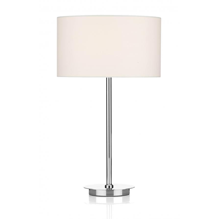 Tus4050 tuscan table lamp dar polished chrome table lamp cream shade dar tus4050s1058 tuscan 1 light table lamp polished chrome aloadofball Images