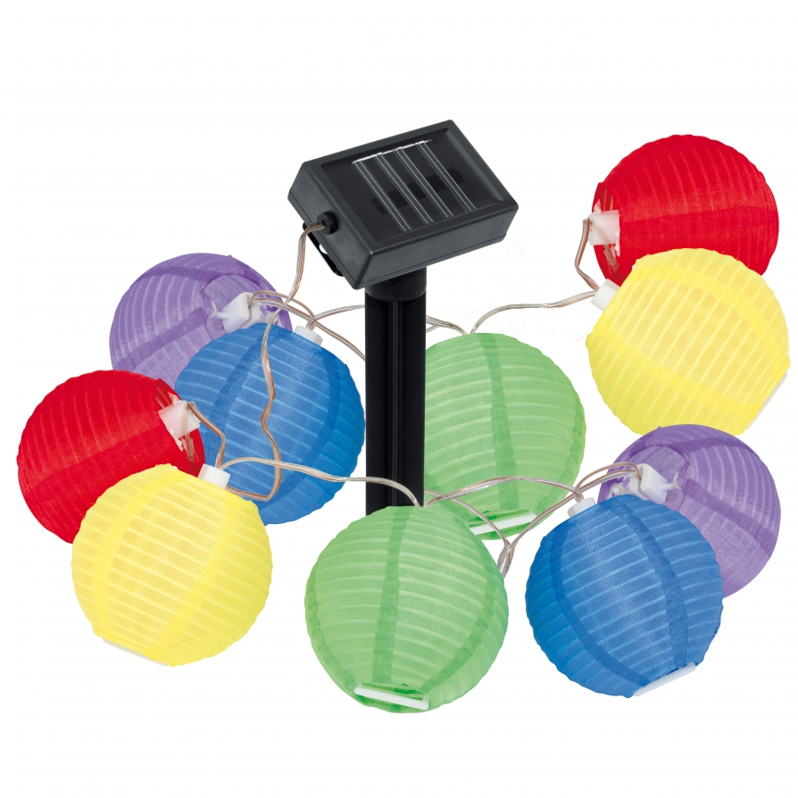 eglo 47339 solar light 10 light modern outdoor led 39 lampion 39 solar light string plastic coloured. Black Bedroom Furniture Sets. Home Design Ideas