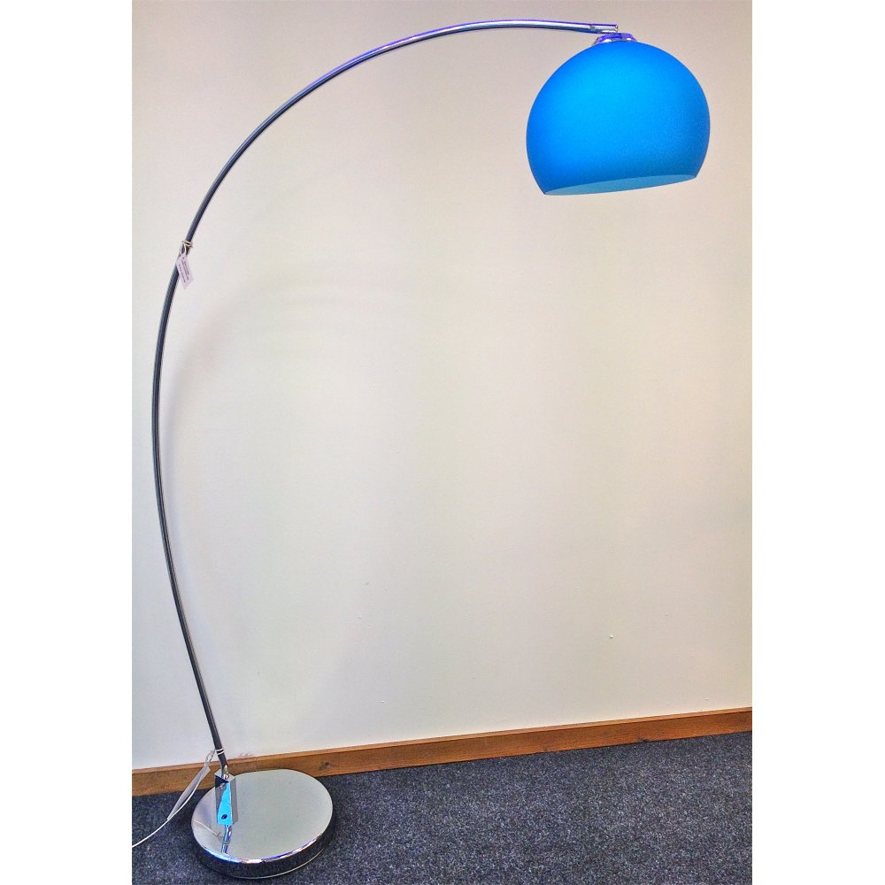 retro lighting. lrfloorblue 1 light modern floor lamp blue and polished chrome retro lighting a