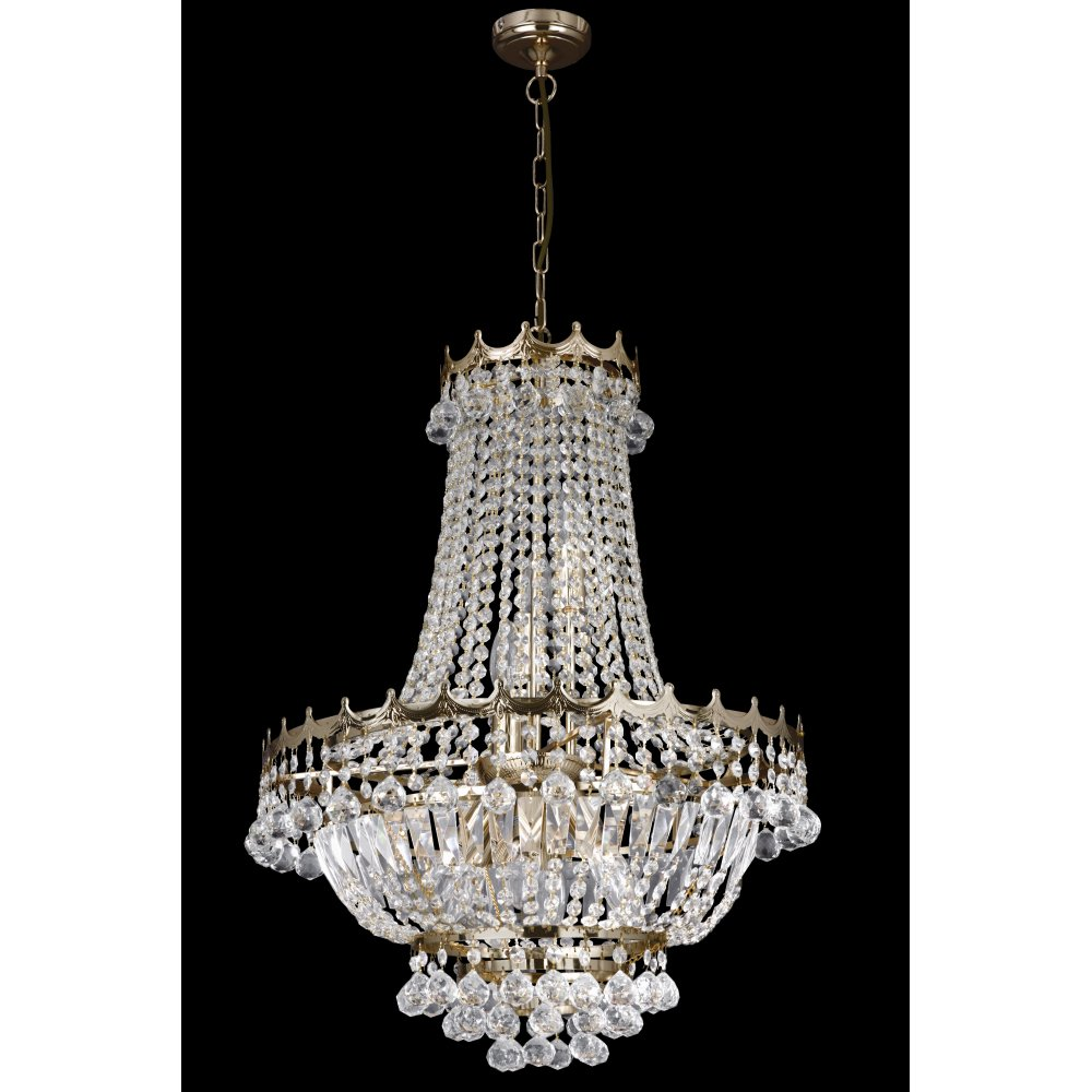 Searchlight 9112 59go versailles 9 light gold chandelier searchlight 9112 52go versailles 9 light chandelier gold mozeypictures Image collections