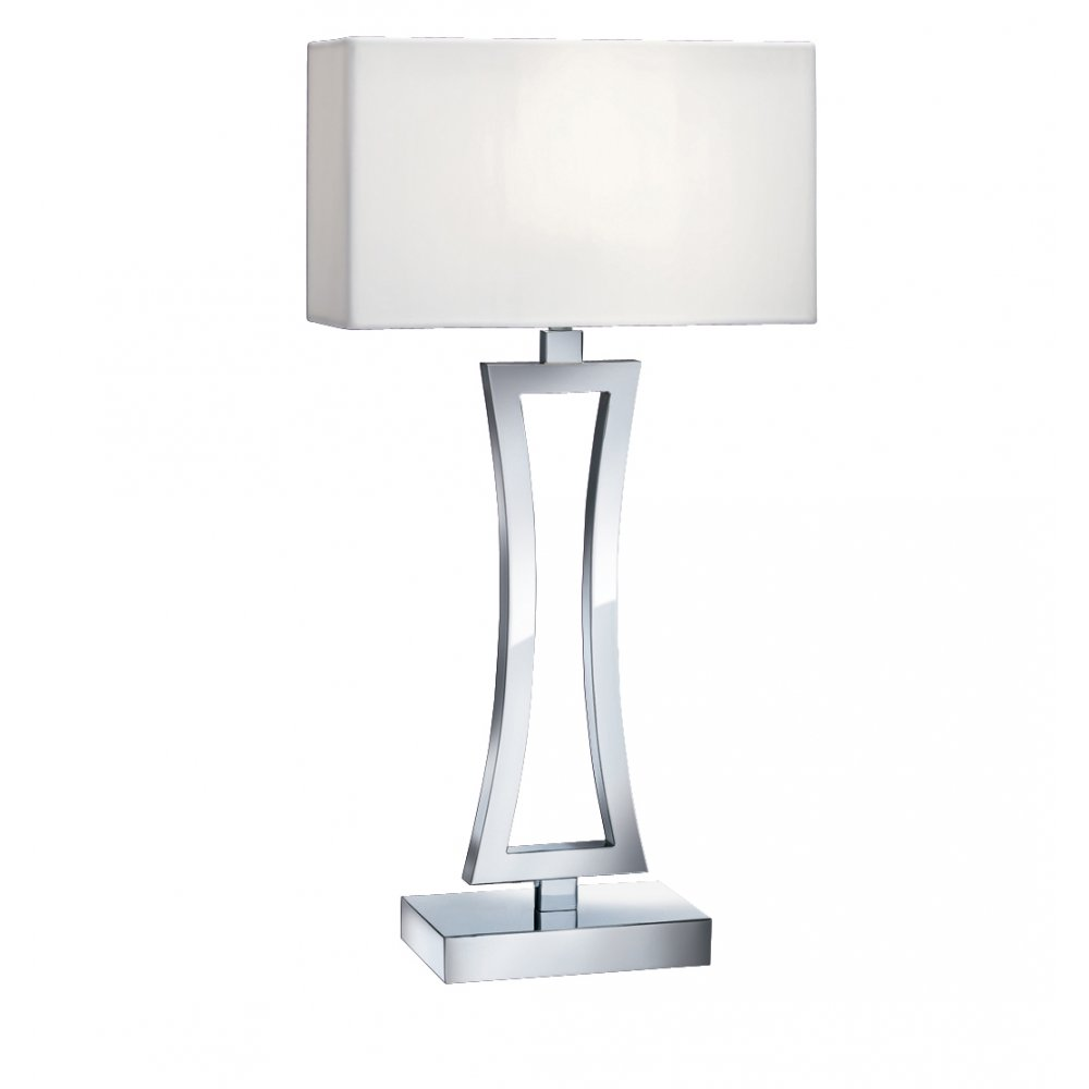 searchlight 4081cc 1 light polished chrome table lamp. Black Bedroom Furniture Sets. Home Design Ideas