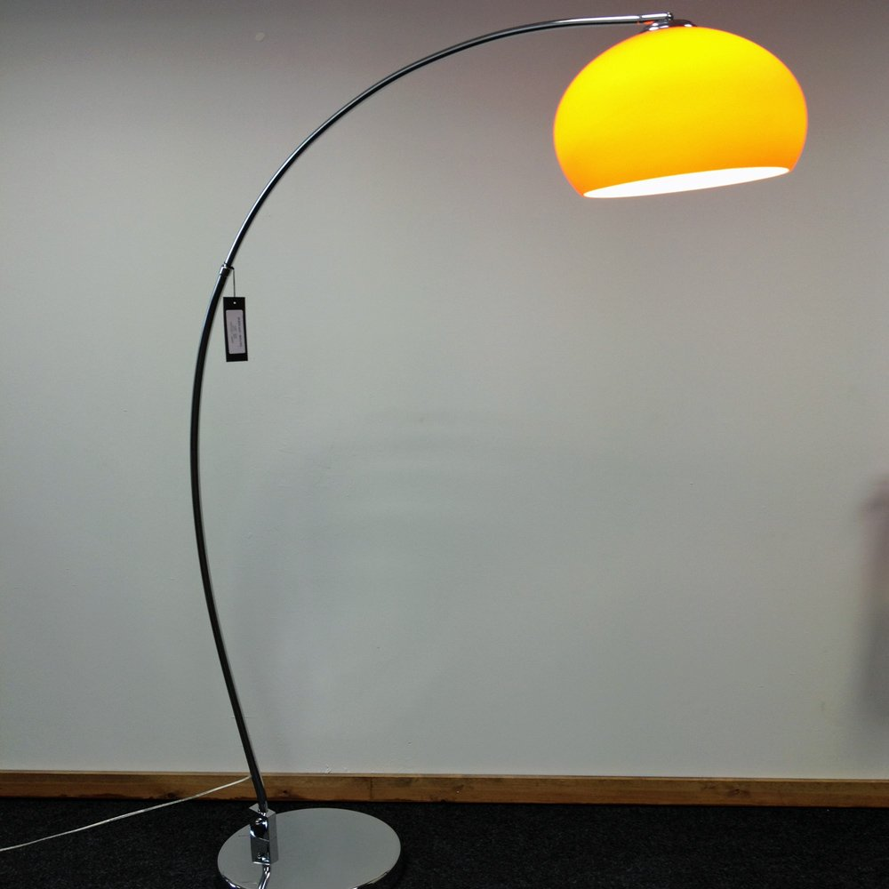 Retro lighting lrfloororange 1 light modern floor lamp orange and retro lighting lrfloororange 1 light modern floor lamp orange and polished chrome aloadofball