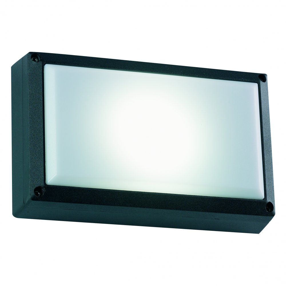 Low Energy Exterior Wall Lights : Endon EL-40035-BL Strachan Black Low Energy Exterior Wall Light