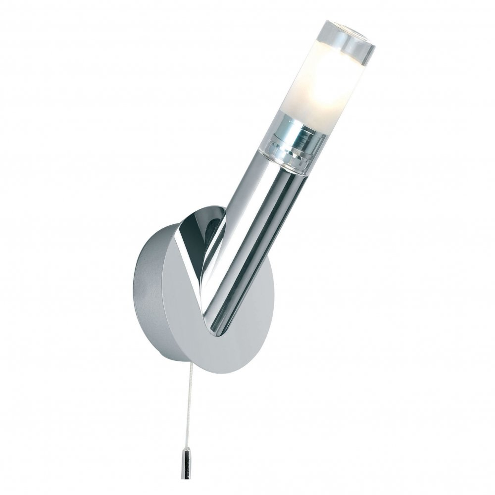Endon Bathroom Ceiling Lights endon el-1303-wbch baron 1 light switched chrome bathroom wall light