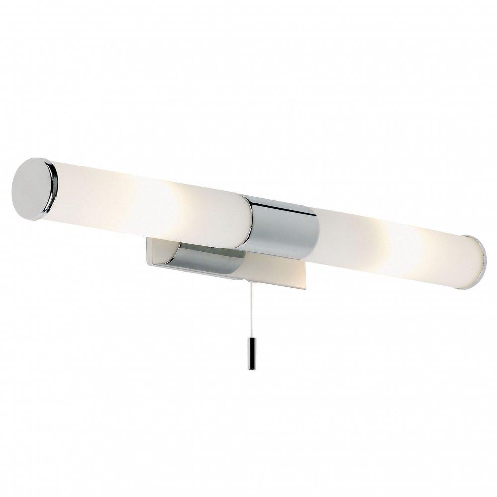 Bathroom wall lights with pull cord - El 257 Wb 2 Light Switched Wall Light Bathroom Wall Light Chrome
