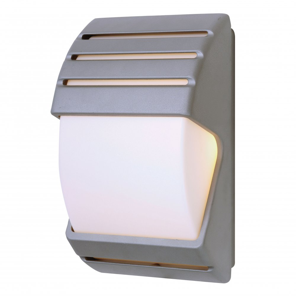 Osram External Wall Lights : Endon EL-40023 IP44 Dusk Till Dawn Wall Light In Black