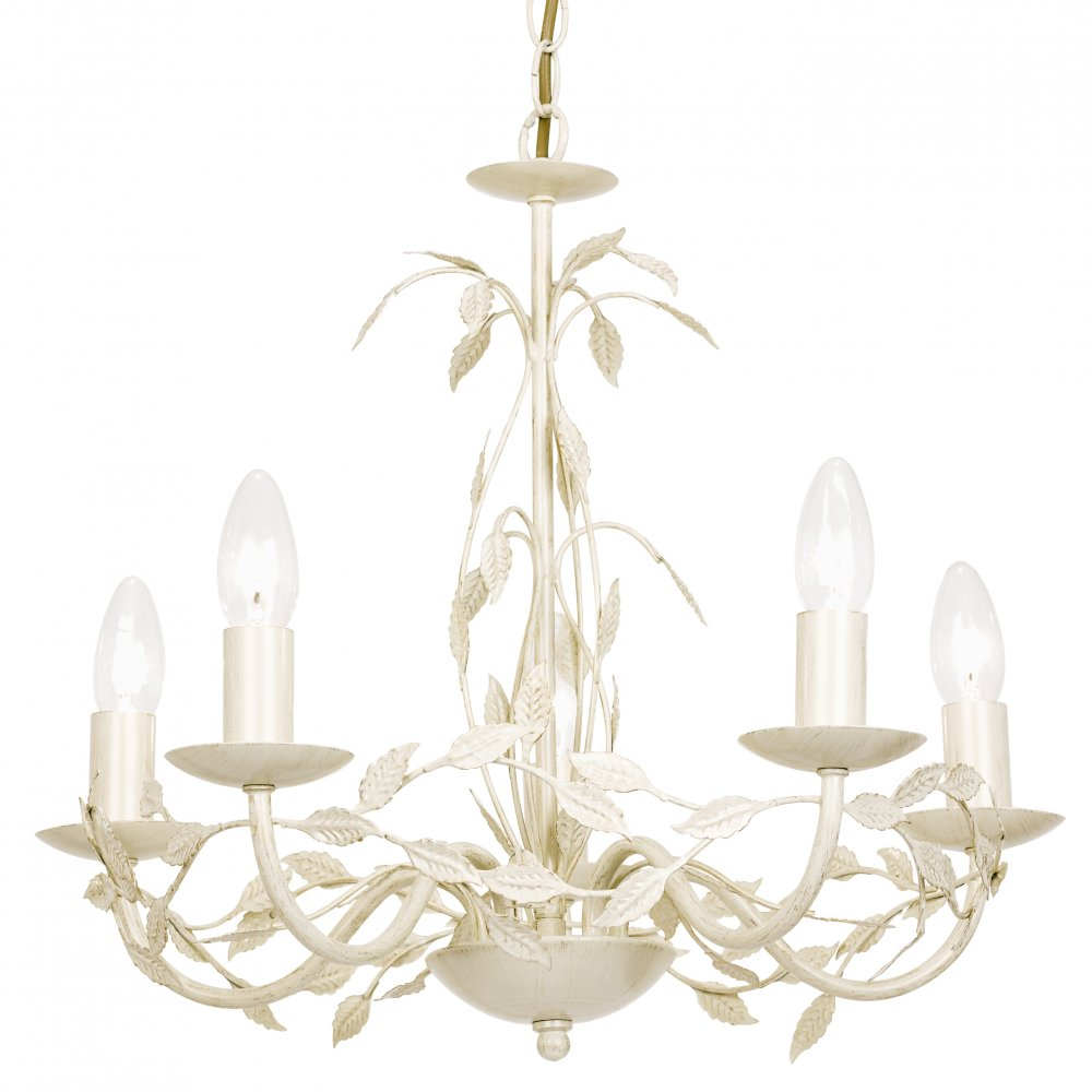 Endon SERENADE-5CR Serenade 5 Light Ceiling Light Cream Gold. u2039