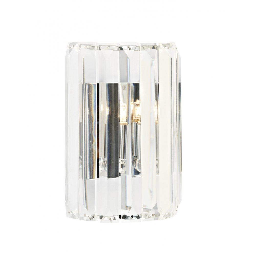 Dar Dar Ske0750 Sketch 1 Light Switched Crystal Wall Light Polished Chrome P23046 on solar panel led lights