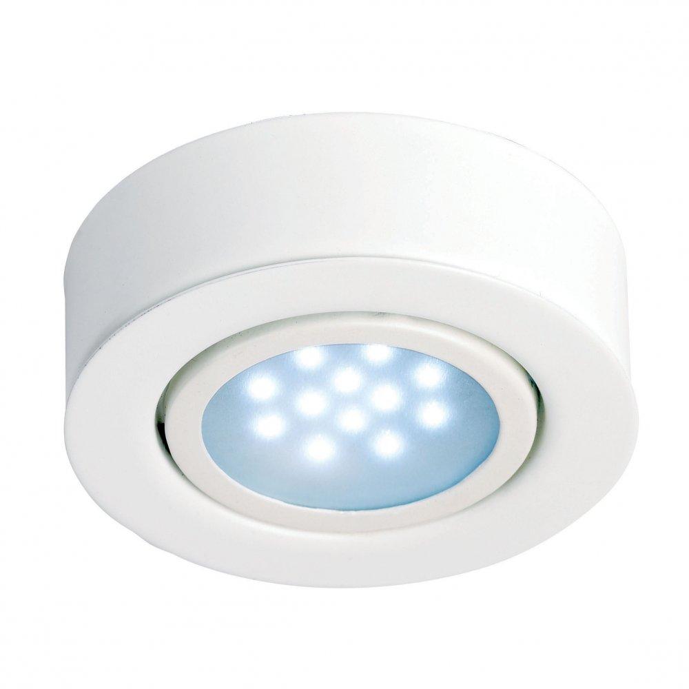 Masterlite Mains Powered Led Cabinet Light Pack Of 3: Endon EL-10014-WH Cabinet Lighting