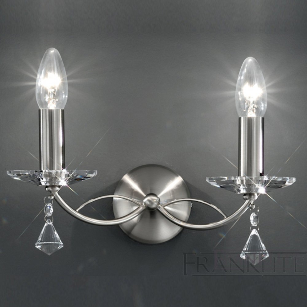 Franklite Crystal Wall Lights : Monaco 2 Light FL2225/2 Crystal Wall Lighing Franklite
