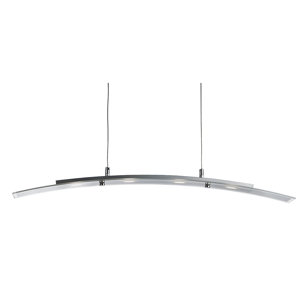 4 Light LED Bar Pendant In Brushed