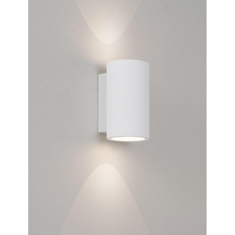 Led Wall Lights Plaster: Bologna 160 2 Light Wall Light Plaster