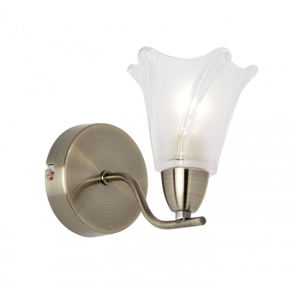 EARL-1WBAB 1 Light Wall Light Antique Brass Wall Light Earl